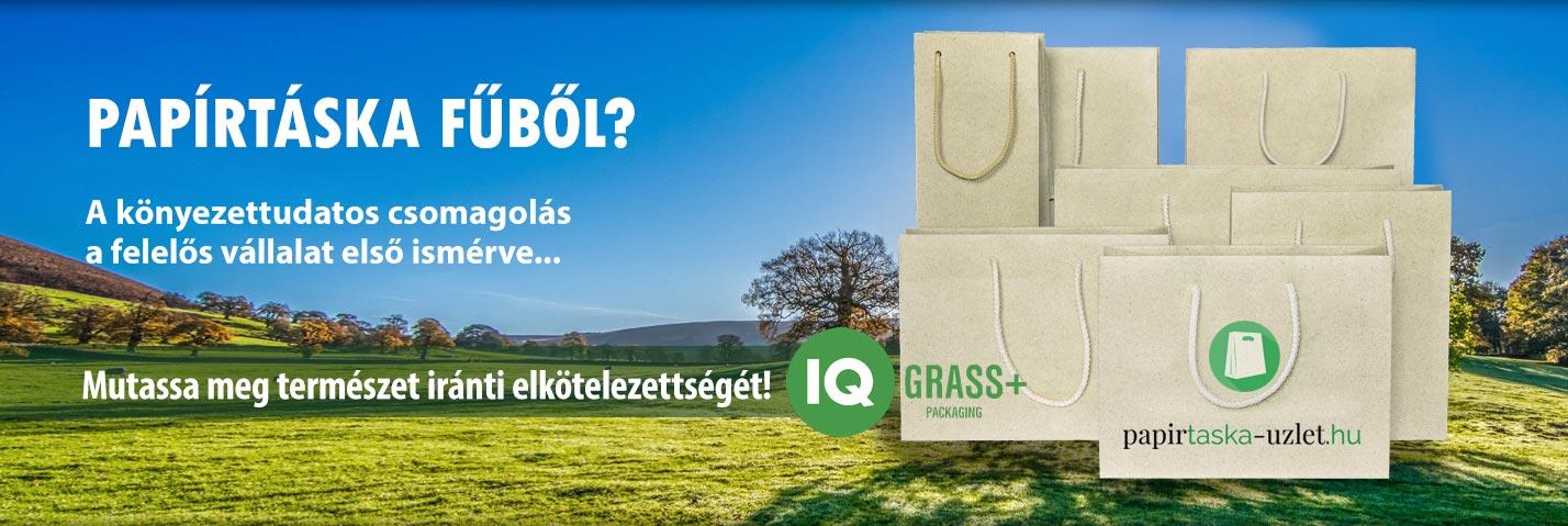 Papírtáska fűből? A környezettudatos csomagolás a felelős vállalat első ismérve. Mutassa meg természet iránti elkötelezettségét!