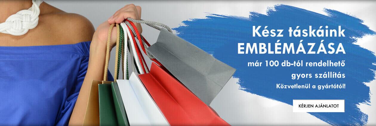 Kész táskáink – EMBLÉMÁZÁSA, már 100 db-tól rendelhető - gyors szállítás - Közvetlenül a gyártótól!